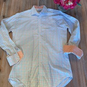 Jack Stone by Thomas Dean Patterned Button Down